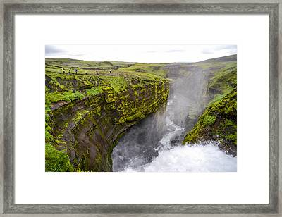 Thundering Icelandic Chasm On The Fimmvorduhals Trail Framed Print