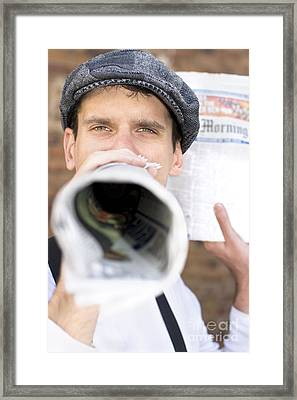 Megaphone News Framed Print by Jorgo Photography - Wall Art Gallery