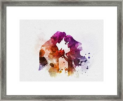 Megara And Hercules Framed Print by Rebecca Jenkins