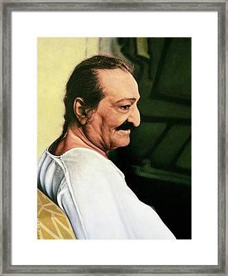 Meher Baba 3 Framed Print by Nad Wolinska