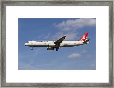 Mehmet Airways Airbus A321 Framed Print by David Pyatt