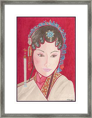 Mei Ling -- Portrait Of Woman From Chinese Opera Framed Print
