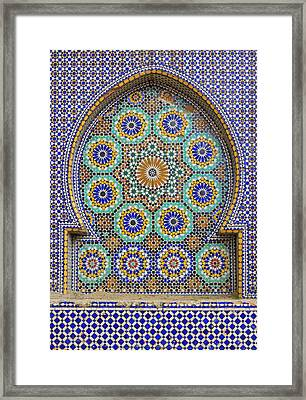 Framed Print featuring the photograph Meknes by Ramona Johnston