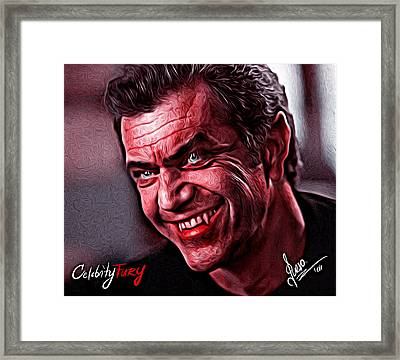Mel Gibson Framed Print by Gene Spino