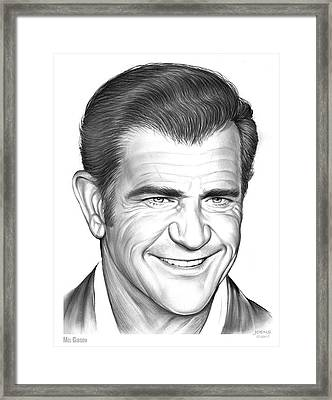 Mel Gibson Framed Print by Greg Joens