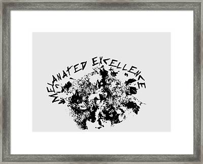 Framed Print featuring the painting Melanated Excellence IIi by Alkebulan