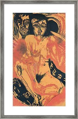 Melancholy Girl  Framed Print by Ernst Ludwig Kirchner