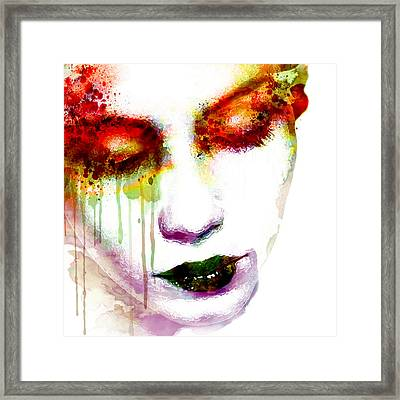 Melancholy In Watercolor Framed Print