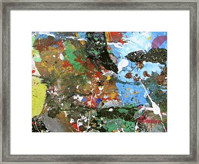 Framed Print featuring the painting Melancholy Man by Melinda Saminski