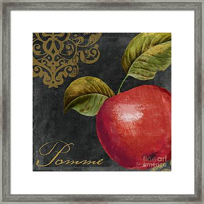 Melange Apple Pomme Framed Print