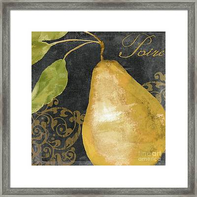 Melange French Yellow Pear Framed Print by Mindy Sommers