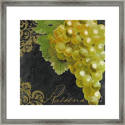 Melange Green Grapes Framed Print by Mindy Sommers