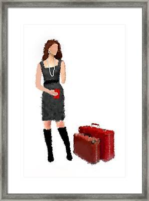 Framed Print featuring the digital art Melanie by Nancy Levan