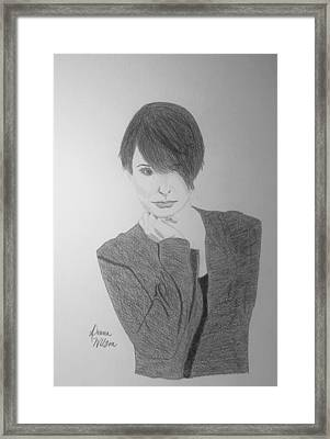 Melanie Number 9 Black And White Framed Print by Donna Wilson