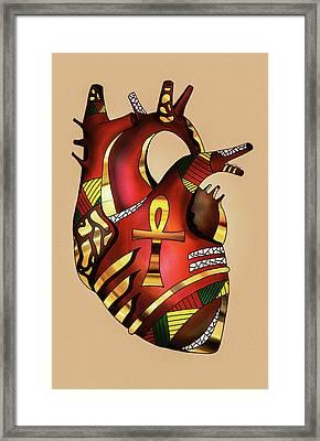 Melanin Heart Framed Print by Kenal Louis