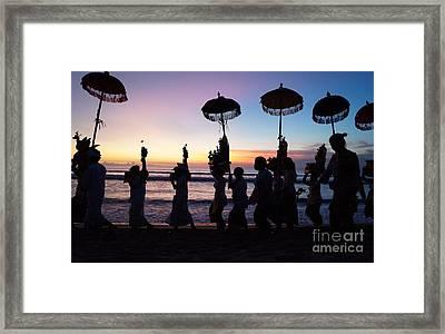 Melasti Festival Ceremony Bali Framed Print by Timea Mazug