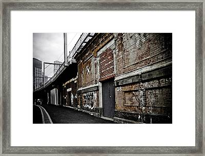 Melbourne Alley Framed Print by Kelly Jade King