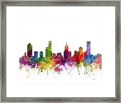Melbourne Australia Cityscape 06 Framed Print