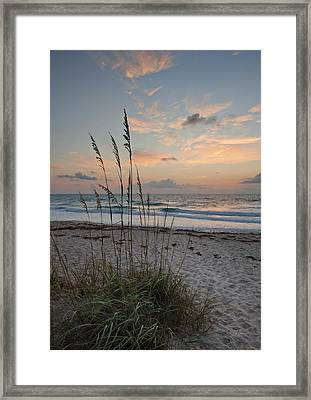 Melbourne Beach Sunrise Framed Print by Cheryl Davis