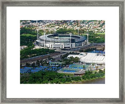 Melbourne Cricket Ground Framed Print by Niel Morley