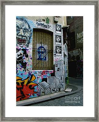 Melbourne Graffiti I Framed Print by Louise Fahy