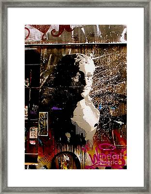 Melbourne Graffiti IIi Framed Print by Louise Fahy