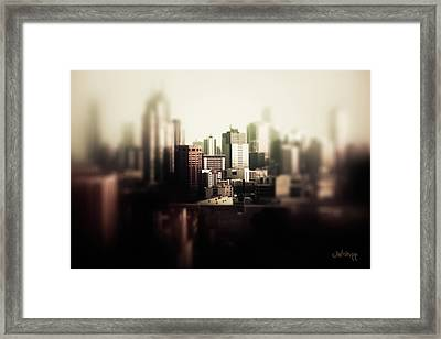 Melbourne Towers Framed Print