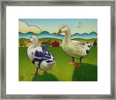 Melissas Ducks Framed Print by Stacey Neumiller