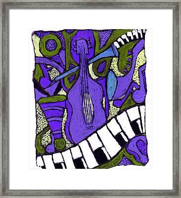 Melllow Jazz Framed Print