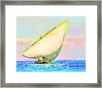 Framed Print featuring the painting Mellow Dawn by Angela Treat Lyon