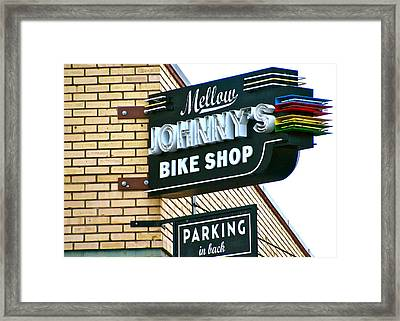 Mellow Johnny's Framed Print by Frank SantAgata