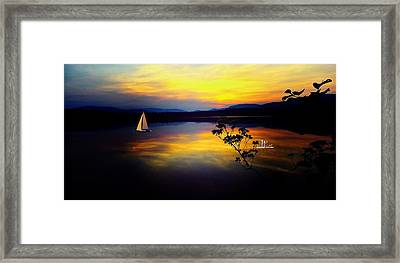 Mellow Moments In New England Framed Print