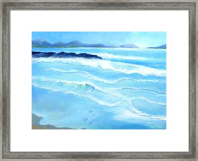Mellow Morning Framed Print by Angela Treat Lyon