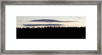 Mellow Sky Panorama Framed Print