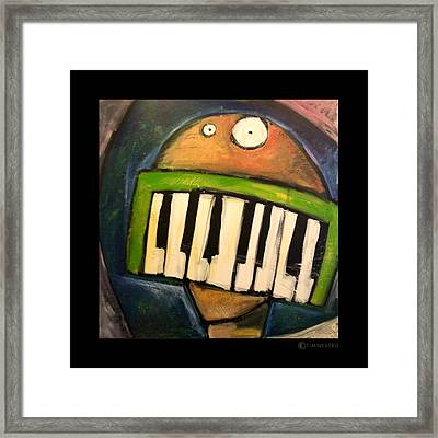 Melodica Mouth Framed Print by Tim Nyberg