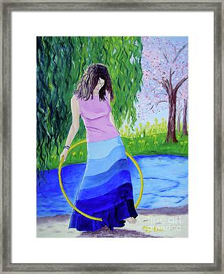 Melodys Hoop Framed Print by Lisa Rose Musselwhite