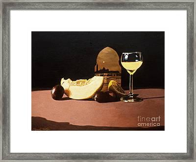 Melon And Orange Juice Framed Print by Daniel Montoya