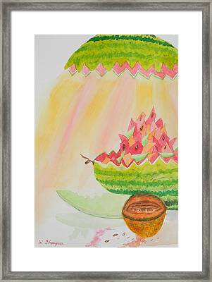 Melon Head Bar And Grill Framed Print by Warren Thompson