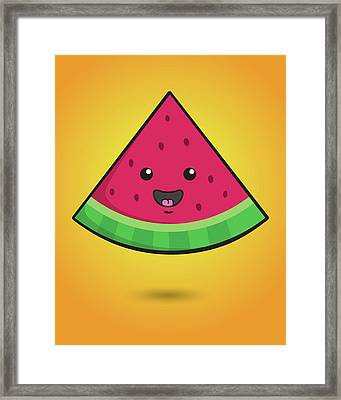Melon Head Framed Print