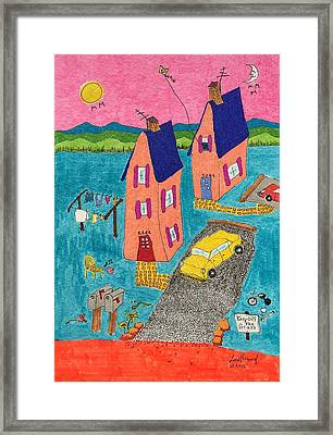 Melon Houses Framed Print