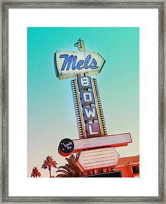 Mels Bowl Retro Sign Framed Print