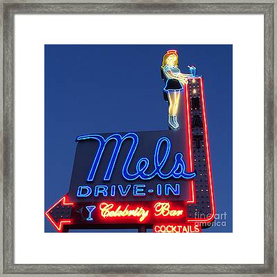 Mels Drive-in Framed Print by Nina Prommer