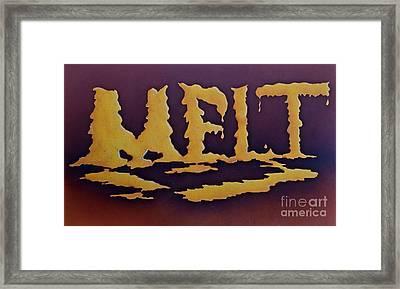 Melt Framed Print