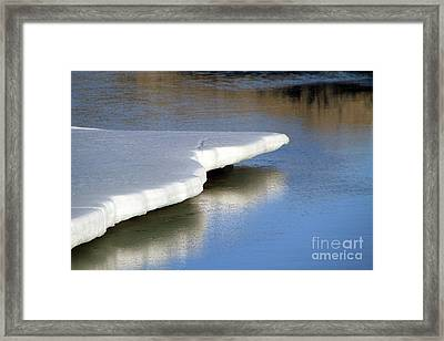 Framed Print featuring the photograph Melt Down by Edward R Wisell