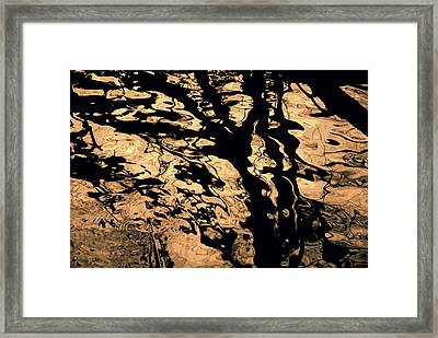 Melted Chocolate Framed Print