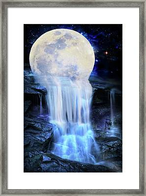 Melted Moon Framed Print
