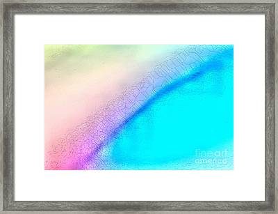 Melted Rainbow Framed Print