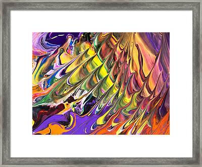 Melted Swirl Framed Print