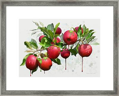 Melting Apples Framed Print