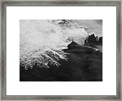 Melting Creek Framed Print